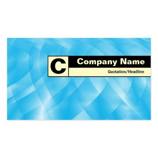 Monograma etiquetado borde - curvas azules tarjetas de visita