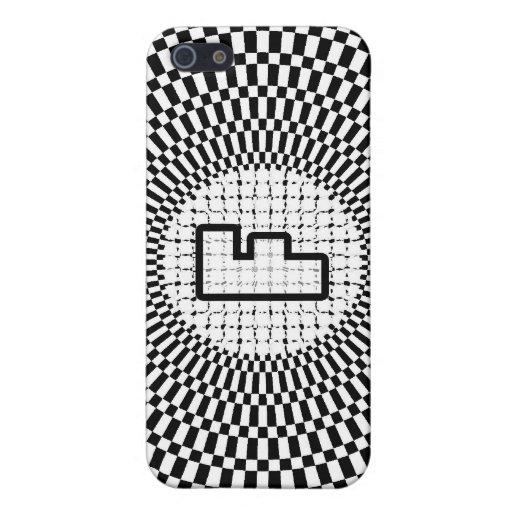 Monograma F de la ilusión óptica iPhone 5 Carcasas