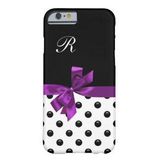 Monograma femenino del arco bonito funda de iPhone 6 barely there