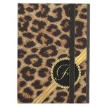 Monograma femenino elegante del leopardo