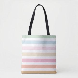 monograma fino moderno del color en colores pastel bolsa de tela