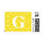 Monograma floral adornado - letra G Envio