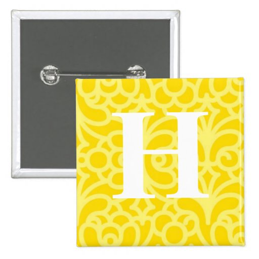 Monograma floral adornado - letra H Pin