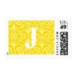 Monograma floral adornado - letra J Envio
