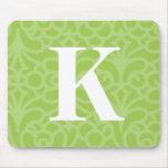 Monograma floral adornado - letra K Tapete De Raton