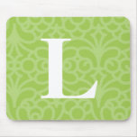 Monograma floral adornado - letra L Alfombrillas De Raton