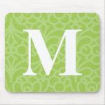 Monograma floral adornado - letra M Tapete De Ratón