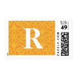 Monograma floral adornado - letra R Envio