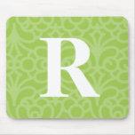 Monograma floral adornado - letra R Alfombrilla De Ratones