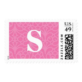 Monograma floral adornado - letra S Estampilla