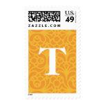 Monograma floral adornado - letra T Envio