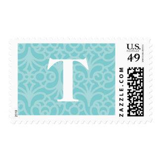 Monograma floral adornado - letra T Sellos