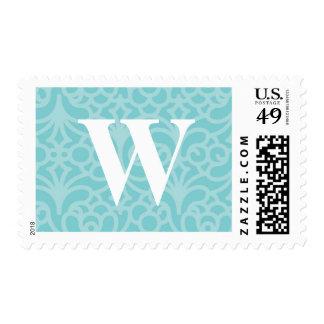 Monograma floral adornado - letra W Sellos