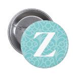 Monograma floral adornado - letra Z Pins