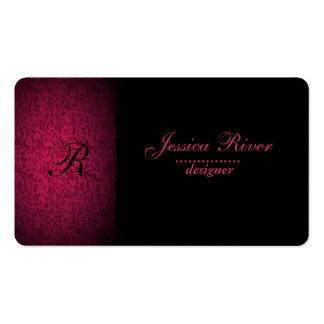 Monograma floral apacible elegante profesional tarjetas de visita