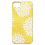 Monograma floral blanco amarillo iPhone 5 Case-Mate carcasa