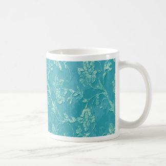 Monograma floral con clase del trullo del vintage taza clásica