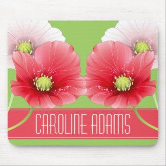 Monograma floral de las amapolas bonitas alfombrillas de raton