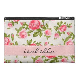 Monograma floral de los rosas femeninos del vintag