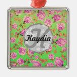 Monograma floral del vintage brillante de moda de  ornamentos de reyes