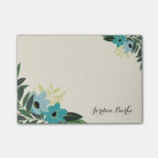 Monograma floral elegante de la frontera notas post-it