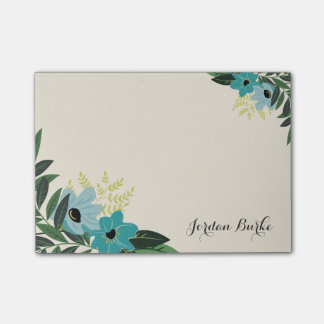 Monograma floral elegante de la frontera notas post-it®