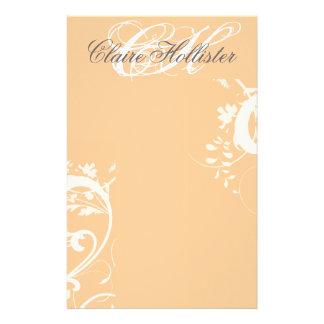 Monograma floral femenino personal de los papeleria