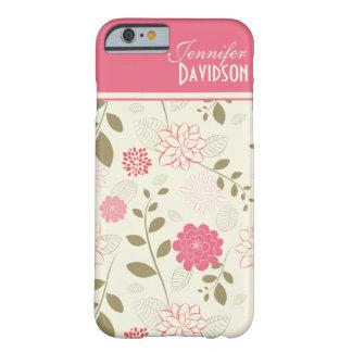 Monograma floral iPhone5ca del moreno de marfil