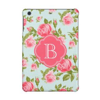 Monograma floral romántico femenino de los rosas d