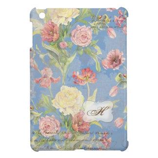 Monograma floral subió Peony de la flor del tulipá iPad Mini Carcasa