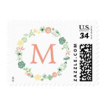 MONOGRAMA FLORAL TIMBRES POSTALES