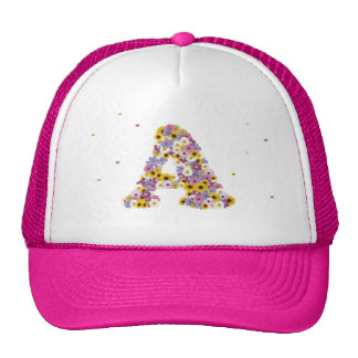 Monograma florecido gorras