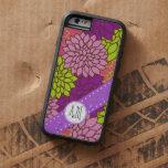 Monograma - flores florecientes de la dalia - funda de iPhone 6 tough xtreme