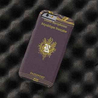 Monograma francés del pasaporte del viejo vintage funda para iPhone 6 tough