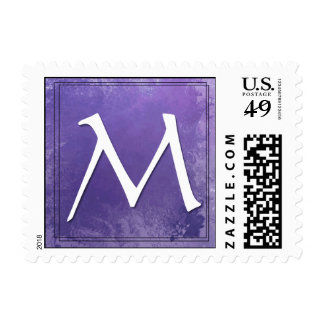 Monograma - franqueo de la letra M
