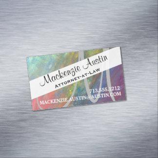 Monograma fresco del arco iris de la diversión tarjetas de visita magnéticas (paquete de 25)