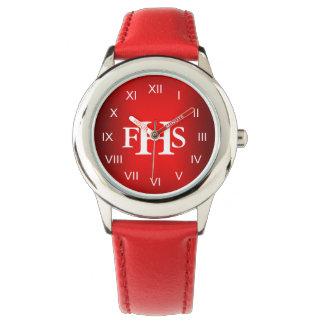 Monograma fresco (rojo) relojes de mano