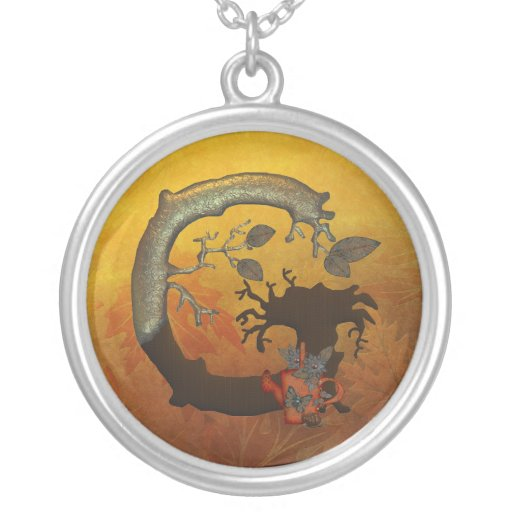 Monograma G del árbol del otoño Colgante Redondo