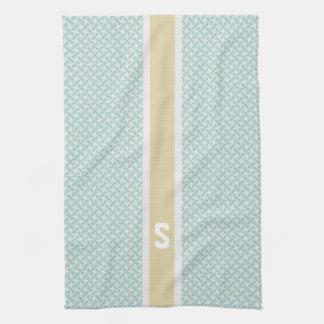 Monograma geométrico de los modelos de la raspa de toalla de mano