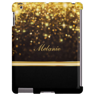 Monograma glamoroso Bling del caso del iPad Funda Para iPad