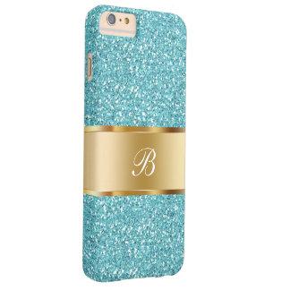 Monograma glamoroso de las señoras funda barely there iPhone 6 plus
