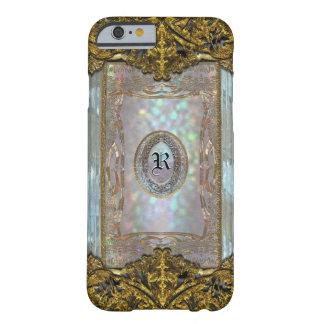 Monograma glamoroso de Paternost Ritz delgado Funda De iPhone 6 Barely There