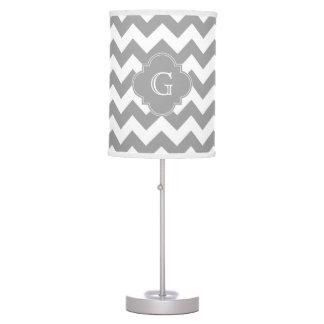 Monograma gris blanco gris de Quatrefoil del