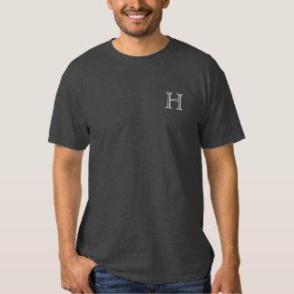 Monograma, gris, camisa de la nata