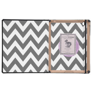 Monograma gris oscuro y púrpura del personalizado iPad protector