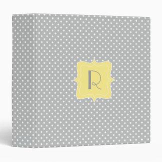 """Monograma gris y amarillo del lunar carpeta 1 1/2"""""""