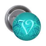 Monograma hermoso V de las cintas azules del trull Pins