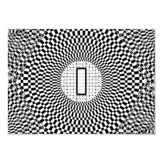 """Monograma I de la ilusión óptica Invitación 5"""" X 7"""""""
