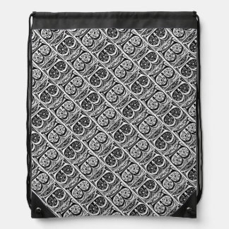 Monograma iluminado manuscrito medieval de la mochilas