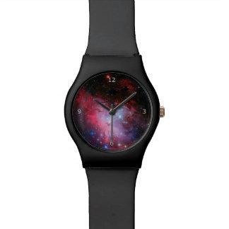 Monograma, imagen del espacio exterior de la relojes de pulsera